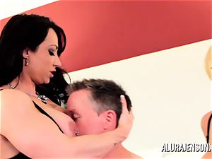 Alura Jenson cougar threesome shag with Brandi May