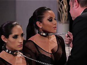 Adriana Luna and Chloe Amour play uber-sexy slaves