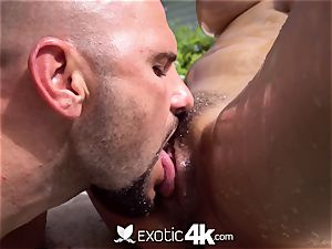 Exotic4k Outdoor pool poke with gigantic hooter asian Jade Kush