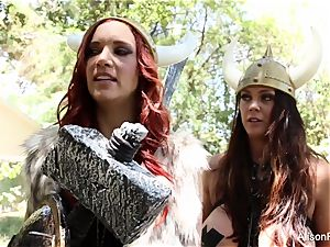 Alison Tyler and Jayden Cole are lezzie vikings