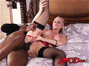 mummy Alena Croft enjoys a big black cock in her donk