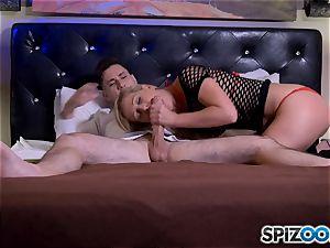 pink cigar globbering platinum-blonde mummy Cherie Deville
