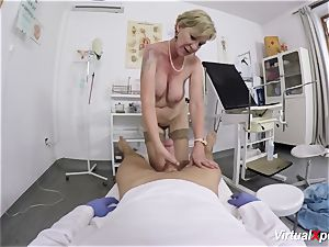buxom granny gets point of view porked by her doc