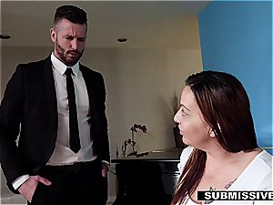 hotwife spouse coerced to plumb his assistant in front of his wife