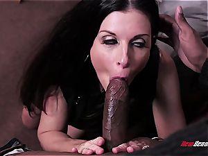 super-steamy wifey India Summer ejaculating on a dark-hued dick