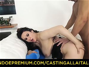 audition ALLA ITALIANA brown-haired nympho rough anal fuckfest