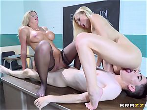 nubile ash-blonde Alex Grey and her youthfull buddy learn from mature professor