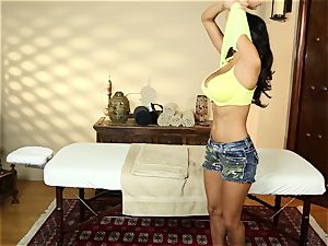 Ava Addams in the massage room