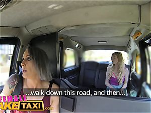 dame fake cab girl-on-girl tryst for posh schoolgirl