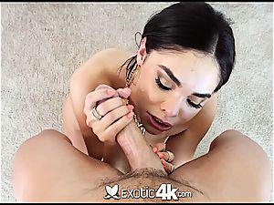 Selena Rose jiggles ass on a hard man rod