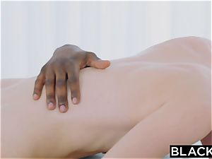 BLACKED large big black cock in her backdoor