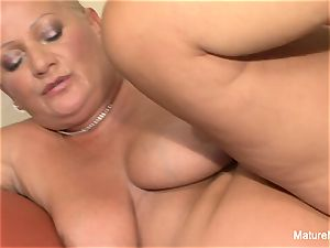 buxom blonde grandmother takes it in the booty