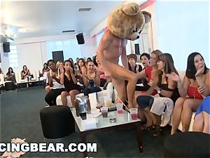 CFNM hotel party with massive penis masculine Strippers