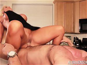 Alura Jenson gets poked by giant muscle boy Zeb Atlas