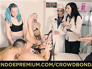 CROWD restrain bondage submissive Amirah Adara first-ever time sadism & masochism