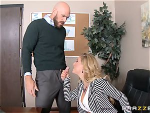 cougar chief Cherie Deville gets shafted by a thick dicked employee