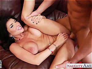 super-steamy girlfriend Romi Rain riding knob