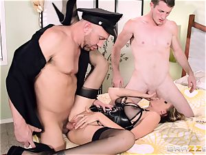 Julia Ann gets a cop in on her naughty three way