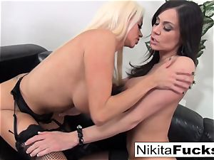 Nikita Von James and Kendra enthusiasm gobble each other