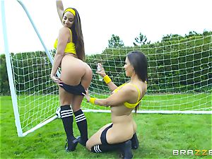 Football joy with Amirah Adara and her pals