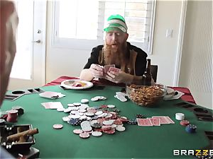 Sarah Jessie banging her hubbies poker mate