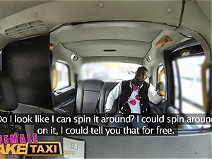 woman faux taxi torrid sweaty drilling pays taxi fare
