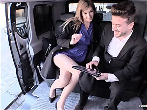 plowed IN TRAFFIC - sizzling car sex with insatiable Czech honey