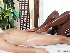 Kerian Lee stuffs his lubed spunk-pump into steamy black honey Ana Foxxx