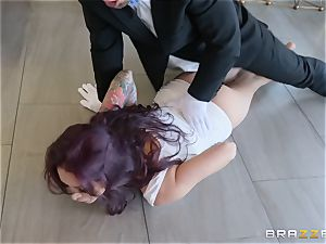 Monique Alexander railing hard on top