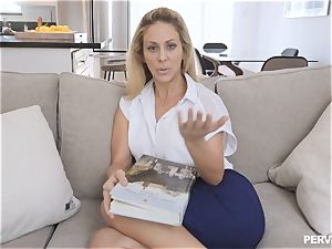 cougar Cherie Deville almost caught by spouse smashing stepson
