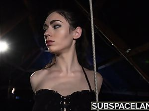 Arwen Gold bondage & discipline session with fucky-fucky fucktoys and leather crop