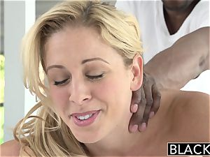 BLACKED hot Southern blonde Takes humungous dark-hued penis