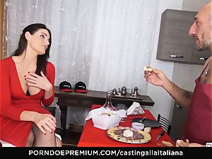 audition ALLA ITALIANA - big-titted dark haired loves raw rectal