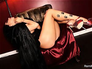 Romi the buxomy vampire has a super hot solo session