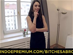 breezies ABROAD - super hot Russian Arwen Gold rides gigantic spear