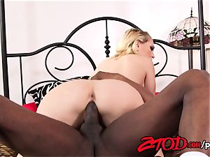 Kagney Linn Karter takes a hefty dark-hued spear