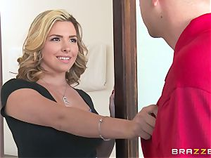 Danica Dillan teases her spouse into a female dominance pulverizing