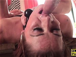 redhead british slave butt-banged and roped