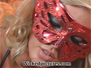 Celeste star screams as Samantha Saint tempts her
