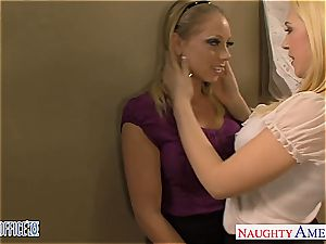 Blondes Kagney Linn Karter and Shawna Lenee banging
