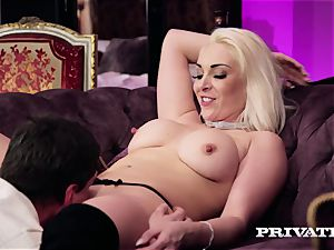 Private.com - big-titted Victoria Summers deep-throats and tears up
