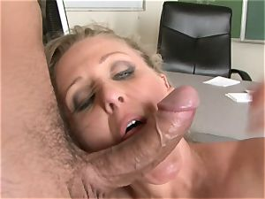 Julia Ann is a xxx cougar who wants to put her coochie on a stiff man-meat
