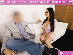 VR porno - Thanksgiving Dinner becomes a nasty three-way