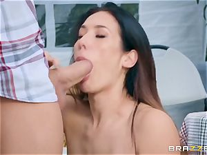 obscene farmer's wifey Eva Lovia gets her mouth-watering cunt torn up at a public honest