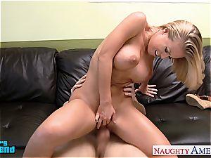 huge-chested blondie Nicole Aniston rail boner