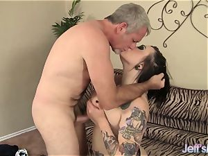 big-titted tattooed plumper loves to fuck