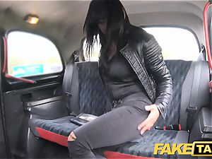 fake taxi appetizing steaming brown-haired enjoys Czech spear