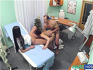 ultra-kinky doctor ravaging sumptuous nurse and cleaning girl
