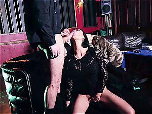trio super-hot bitches sharing jizz in the casino