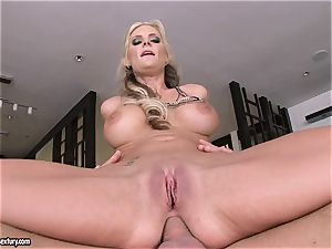 ass-fuck lover Phoenix Marie juggles her bootie on a yam-sized fuck-stick